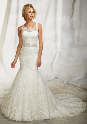Style 1252 Embroidered Net Over Sequins