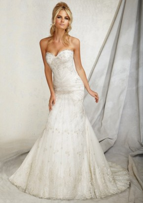 Style 1258 Embroidery on Net
