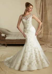 Style 1276 Embroidery on Organza