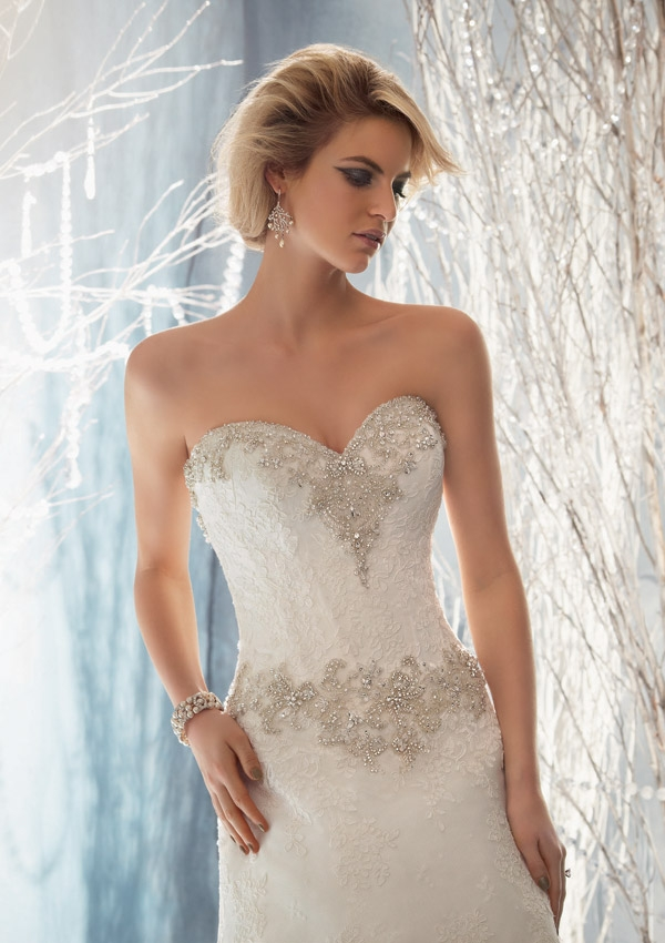 Lace Wedding Dresses Queensland : Style crystal beaded on alencon lace sunshine coast