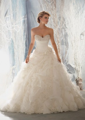 Style 1965 Diamante Beading on Organza