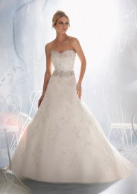 Style 1966 Intricately Beaded Embroidery on Organza
