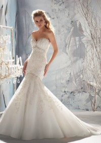 Style 1969 Intricately Beaded Embroidery on Net