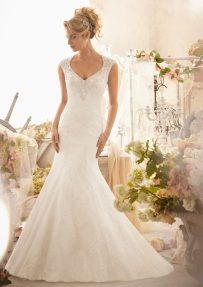 Style 2604 Crystal Beaded Embroidery on Chantilly Lace
