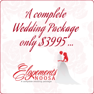 A complete Wedding Package only $3995… Elopements Noosa